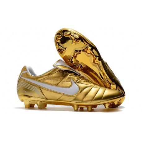 Botas Nike Tiempo Legend R10 Elite FG - Oro Blanco