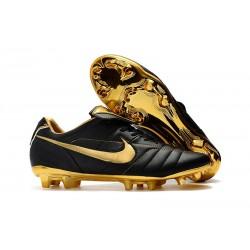 Botas Nike Tiempo Legend R10 FG - Negro Oro