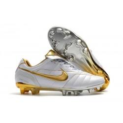 Botas Nike Tiempo Legend R10 FG - Blanco Oro