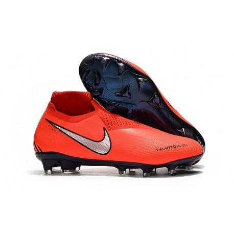 Botas de fútbol Nike PHANTOM VSN ELITE DF FG Rojo Plata