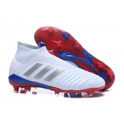 adidas Zapatos de Futbol Predator 18+ FG Blanco Argento