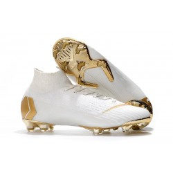Zapatos Nike Mercurial Superfly 360 Elite FG - Blanco Oro