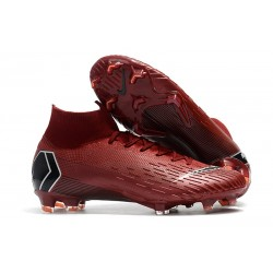 Zapatos Nike Mercurial Superfly 360 Elite FG - Rosso Negro