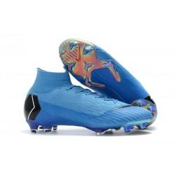 Nike Mercurial Superfly VI Elite FG Tacón - Azul Negro
