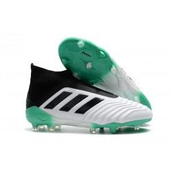 adidas Zapatos de Futbol Predator 18+ FG Blanco Verde Negro