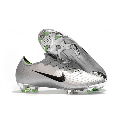 Botas de Fútbol Nike Mercurial Vapor XII Elite FG Plata Negro