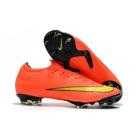 Botas de Fútbol Nike Mercurial Vapor XII Elite FG Naranja Amarillo