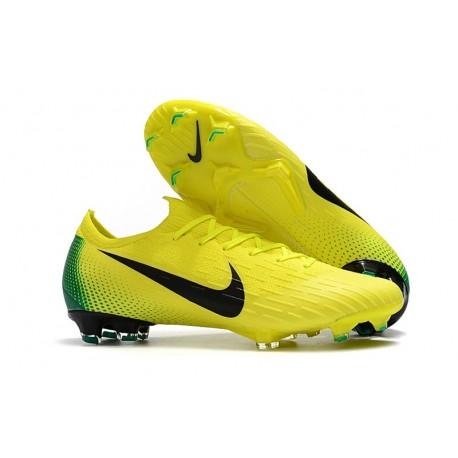 Botas de Fútbol Nike Mercurial Vapor XII Elite FG Amarillo Verde