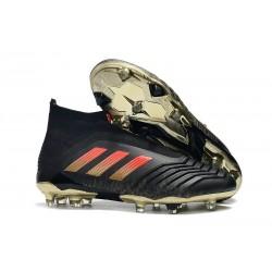 adidas Zapatos de Futbol Predator 18+ FG Negro Rojo