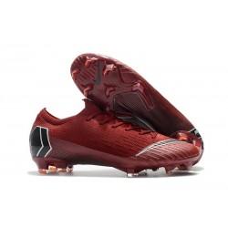 Zapatos Nike Mercurial Vapor 12 Elite FG - Rojo Negro