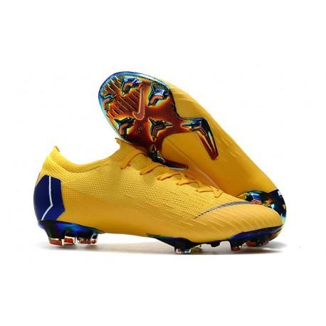 Nike Mercurial Vapor XII Elite FG Zapatillas Hombre Amarillo Azul