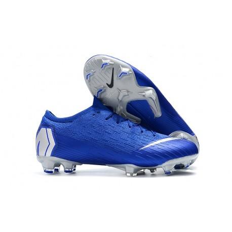 Nike Mercurial Vapor XII Elite FG Zapatillas Hombre Azul Plata