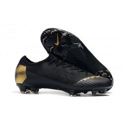 Nike Mercurial Vapor XII Elite FG Zapatillas Hombre Negro Oro