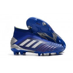 Zapatos de fútbol adidas Predator 19+ FG Azul Plata