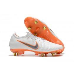 Botas de fútbol Nike Mercurial Vapor 12 Elite Sg Pro Ac Blanco Naranja