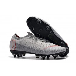 Botas de fútbol Nike Mercurial Vapor 12 Elite Sg Pro Ac Gris Rojo