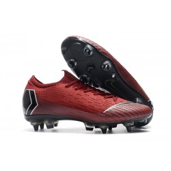 Nike Zapatillas Mercurial Vapor XII Elite Sg-Pro Rojo Negro