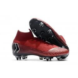 Zapatos de fútbol Nike Mercurial Superfly Elite SG Rojo Negro