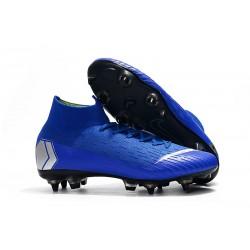 Zapatos de fútbol Nike Mercurial Superfly Elite SG Azul Plata