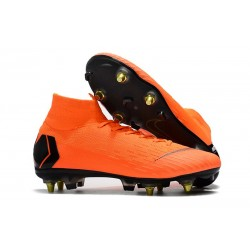 Zapatos de fútbol Nike Mercurial Superfly Elite SG Naranja Negro