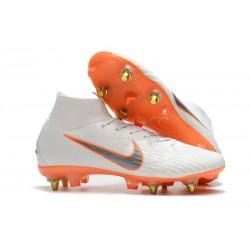 Zapatos de fútbol Nike Mercurial Superfly Elite SG Blanco Naranja