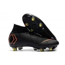 Zapatos de fútbol Nike Mercurial Superfly Elite SG Negro Naranja
