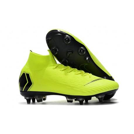 Zapatos de fútbol Nike Mercurial Superfly Elite FG Voltio Negro