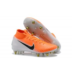 Nike Bota de Futbol Mercurial Superfly 6 Elite SG-Pro Naranja Blanco