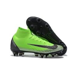 Nike Bota de Futbol Mercurial Superfly 6 Elite SG-Pro Verde Negro