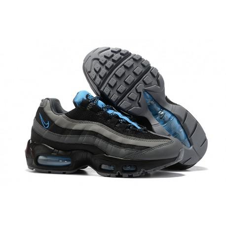 Zapatillas Nike Air Max 95 Hombres Negro Gris Azul