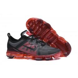Nike Zapatillas Hombres Air VaporMax 2019 Negro Rojo