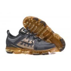 Nike Zapatillas Hombres Air VaporMax 2019 Negro Oro
