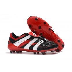 Zapatos de Fútbol adidas Predator Accelerator FG Negro Rojo Blanco