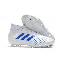 Zapatos de fútbol adidas Predator 19+ FG Virtuso Blanco Azul