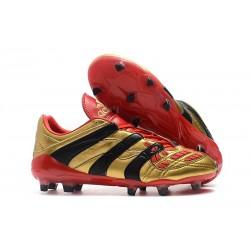 Zapatos de Fútbol adidas Predator Accelerator FG Oro Rojo Negro