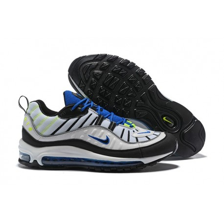 Zapatos Nuevo Nike Air Max 98 Hombres Negro Blanco Azul