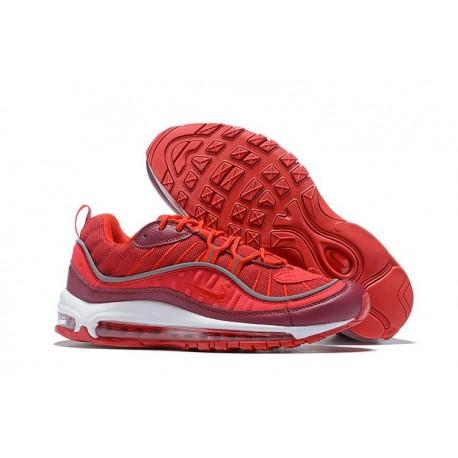 Zapatos Nuevo Nike Air Max 98 SE Hombres Rojo