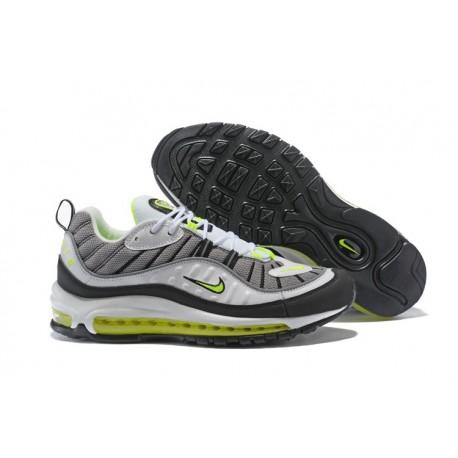 Zapatos Nuevo Nike Air Max 98 Hombres Gris Rojo