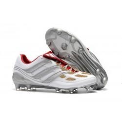 Zapatos de Fútbol adidas Predator Accelerator FG Gris Oro Rojo