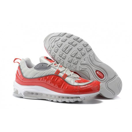 Nike Supreme x NikeLab Air Max 98 Zapatillas - Gris Rojo