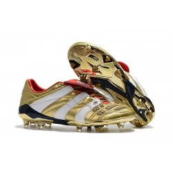 Zapatos de Fútbol adidas Predator Accelerator FG Oro Blanco Rojo