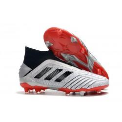 Zapatos de fútbol adidas Predator 19+ FG Plata Negro