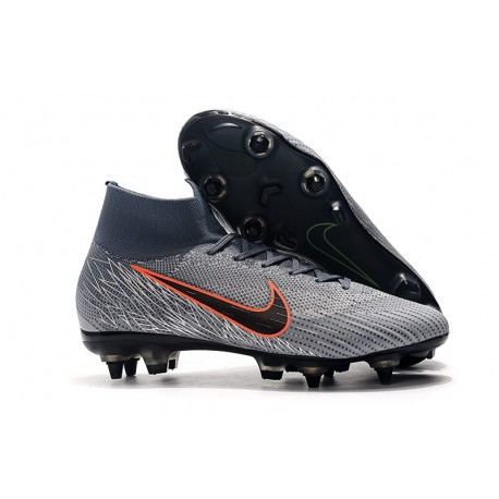Nike Bota de Futbol Mercurial Superfly 6 Elite SG-Pro Gris Naranja