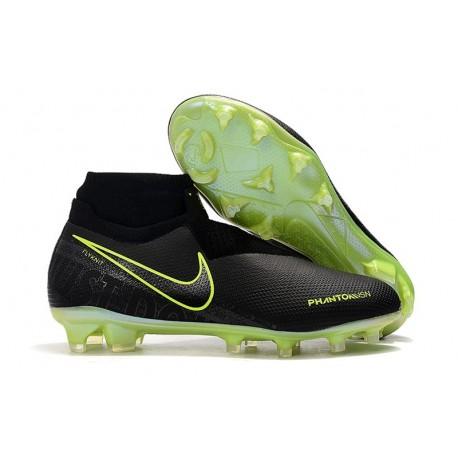 Zapatillas Nike Phantom Vsn Elite Df Fg Hombre Negro Amarillo Fluorescente