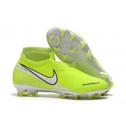 Zapatillas Nike Phantom Vsn Elite Df Fg Hombre Amarillo Fluorescente Blanco