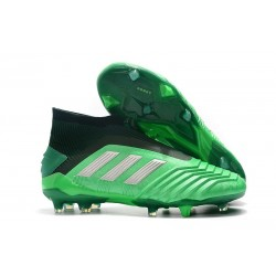 Zapatos de fútbol adidas Predator 19+ FG Verde Plata