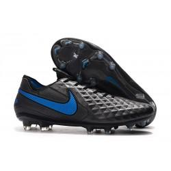 Tacón de Fútbol Nike Tiempo Legend VIII Elite FG Negro Azul