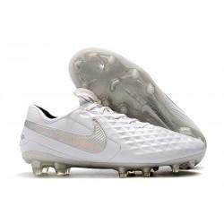 Tacón de Fútbol Nike Tiempo Legend VIII Elite FG Blanco Plationo Gris