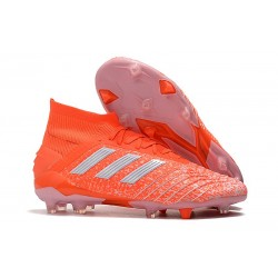 Botas de Futbol adidas Predator 19.1 FG Hombre Naranja Blanco