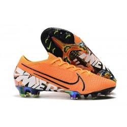 Tacos de Futbol Nike Mercurial Vapor 13 Elite FG Naranja Blanco